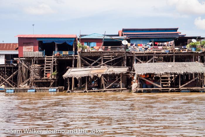 Stilt houses on Lake Tonle Sap
