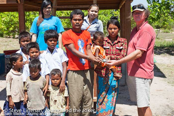 Building a house for poor people in Cambodia
