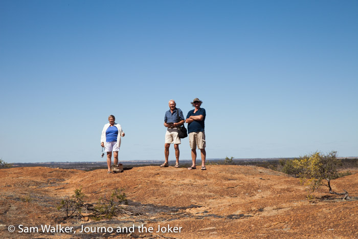 Overlooking the landscape from Wave Rock, Western Australia