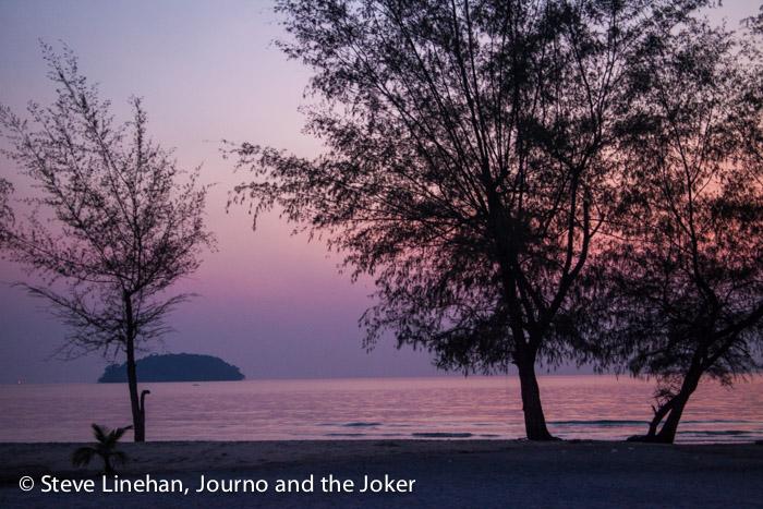 Sunset at Otres Beach, near Sihanoukville