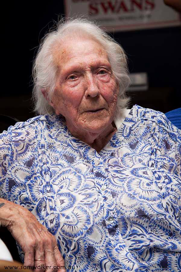 Grandma Linehan at her 100th birthday