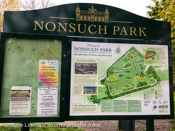 Nonsuch park notice board