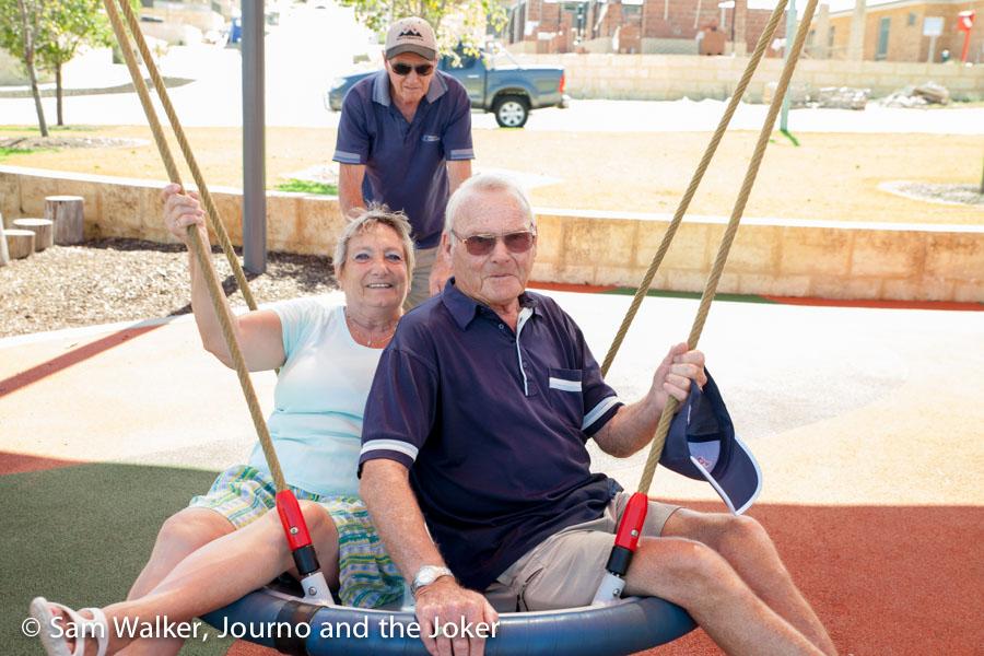 Family fun on the swing
