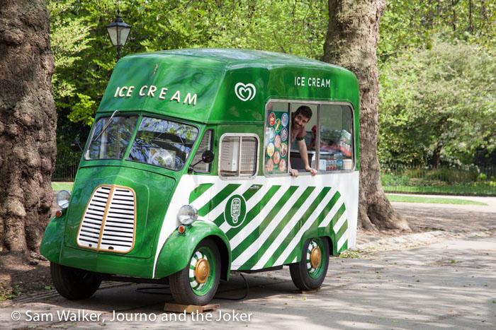 Ice cream van in Hyde Park