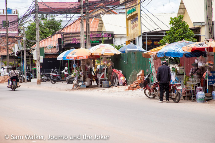Daily life on the streets of Siem Reap.