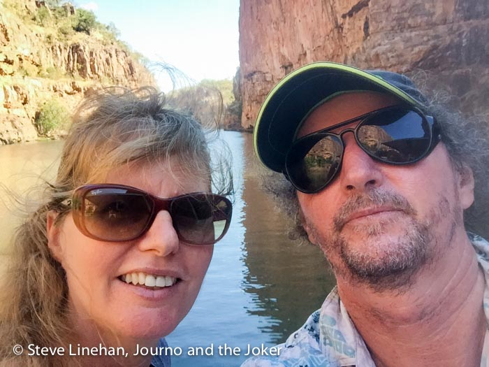 Having a ball at Katherine Gorge, Nitmiluk National Park