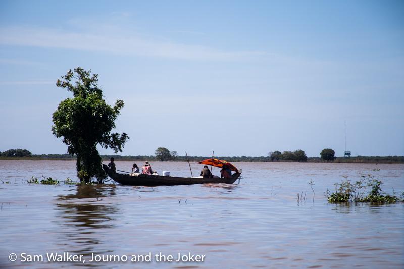 Fishing boat on Tonle Sap, Cambodia