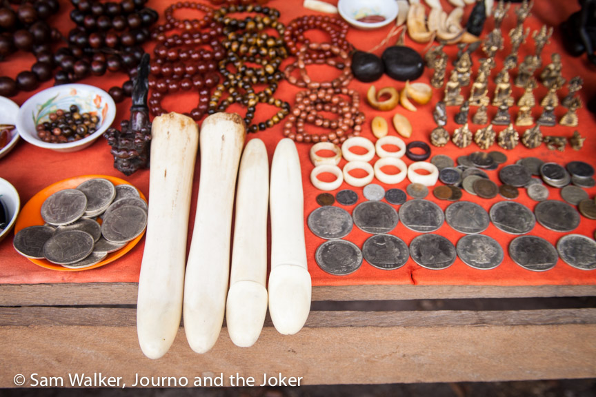 Trinkets for sale at Phnom Kulen