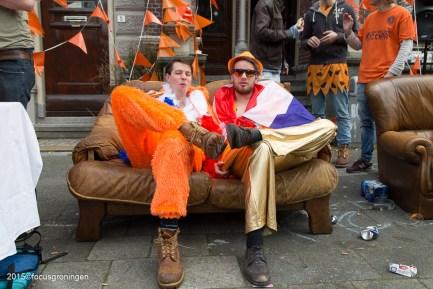 nederland 2015, groningen, centrum, koningsdag, preadiniussingel
