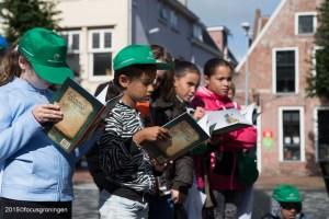nederland 2015, groningen, centrum, opening week alfabetisering, damsterplein