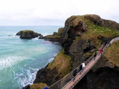 On the way to the rope bridge