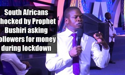 South Africans shocked by Prophet Bushiri asking followers