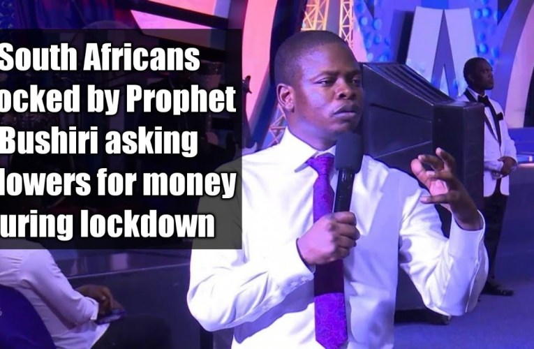 South Africans onslaught Prophet Bushiri for asking his followers to donate money.