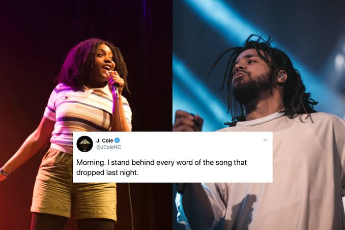 J Cole Addresses Speculation On Diss Track Believed To Have Targeted Noname.
