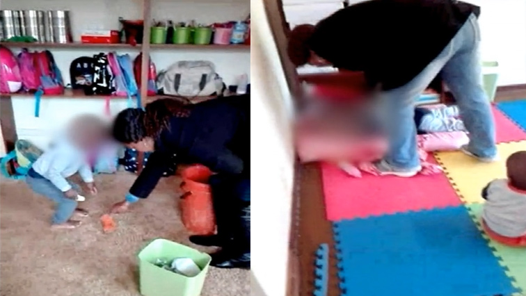 two year old toddler kicked by teacher