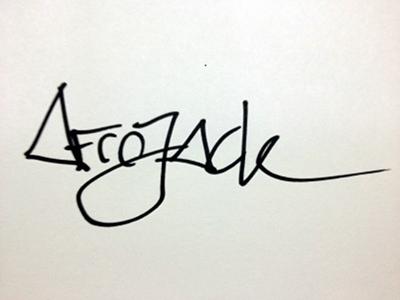 DJ Afrojack autograph