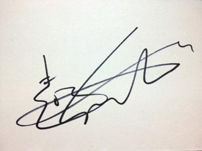Sungha Jung's autograph