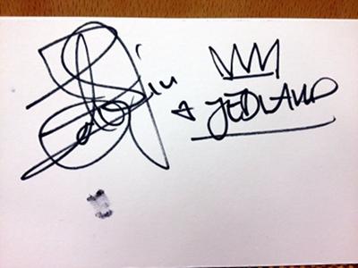 Edward's autograph