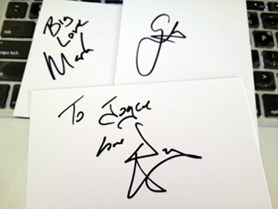 The Script autographs