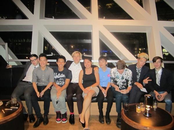 L-R: Fred, Daniel, a friend, Chris, Joyce, Manfred, Danny, Thomas, Jed