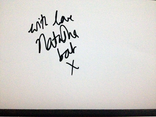 Bat for Lashes autograph