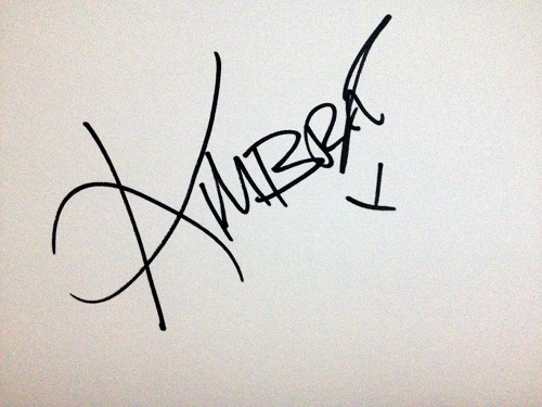 Kimbra autograph
