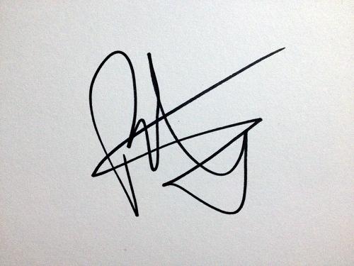 Patrick J Adams' autograph