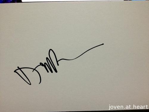 Daniel Rossen Grizzly Bear autograph