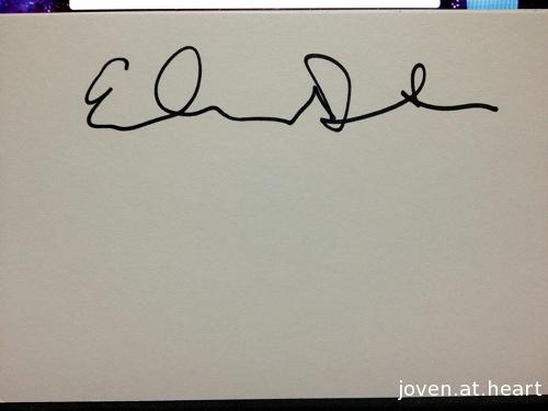 Ed Droste Grizzly Bear autograph