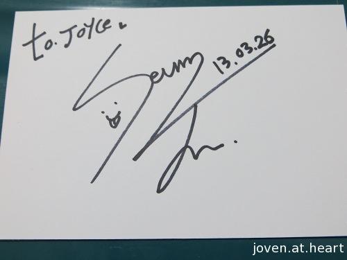 Seungjun A-Prince autograph