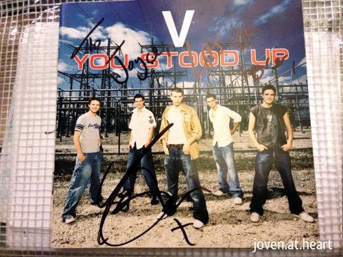 Signed V album (Aaron Buckingham only)