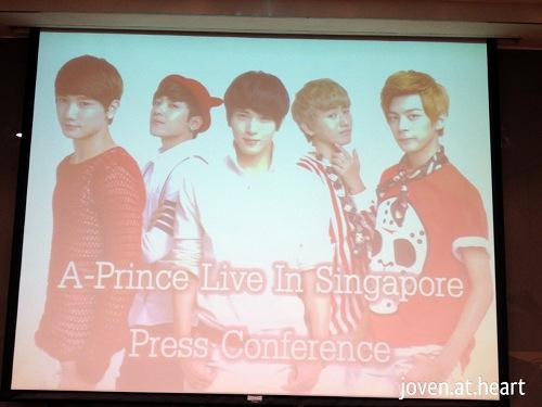 A-Prince Singapore 2013 Press Conference