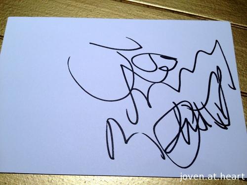 Joe Perry's autograph