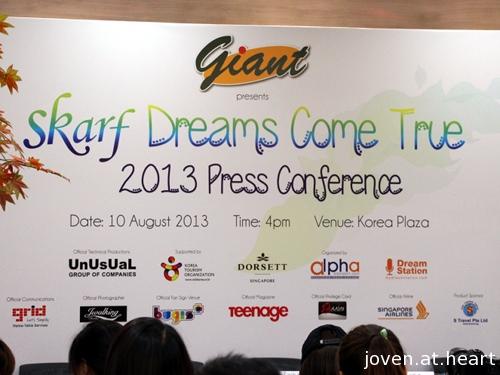 SKarf Dreams Come True Press Conference Singapore 2013