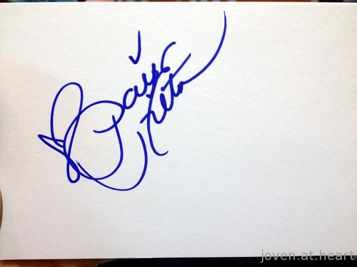 Paris Hilton autograph