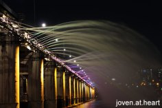 Banpo Bridge Fountain Show