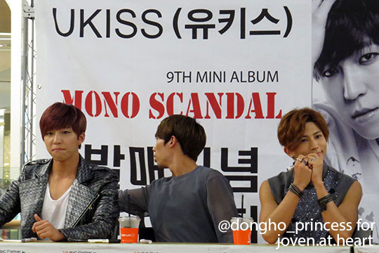 Soohyun, Hoon and Kiseop at the U-Kiss Mono Scandal Seoul Fan Sign