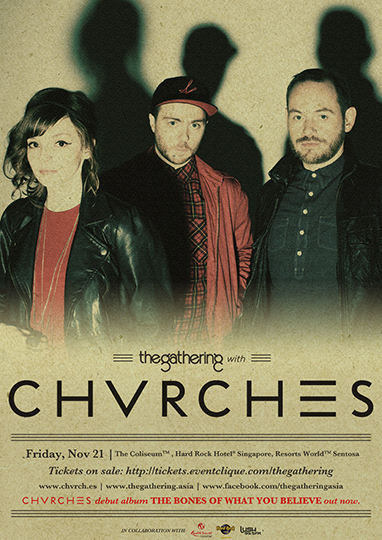 Chvrches Singapore 2014 concert poster
