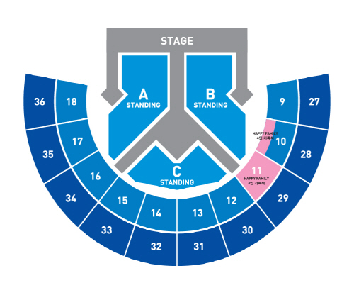 Super Show 6 Seoul seating plan
