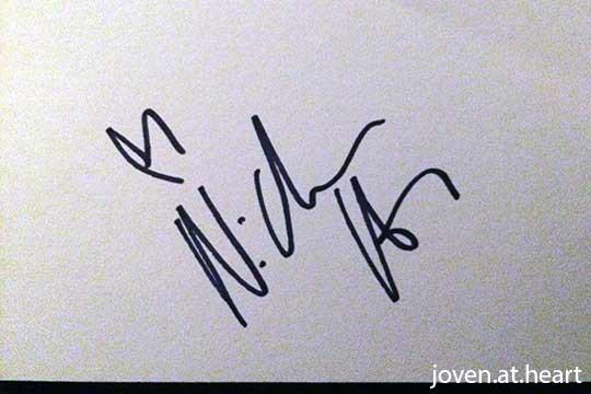 Nicholas Hoult autograph
