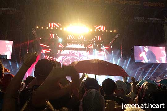 View at the Robbie Williams concert at the 2014 Singapore GP