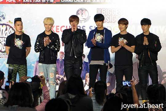 Cross Gene @ Sundown Festival 2014 Fan Meet (Singapore)