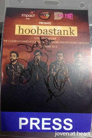 Hoobastank autograph