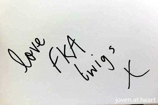 FKA Twigs autograph