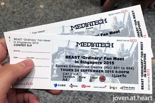 Beast 'Ordinary' Fan Meet in Singapore 2015