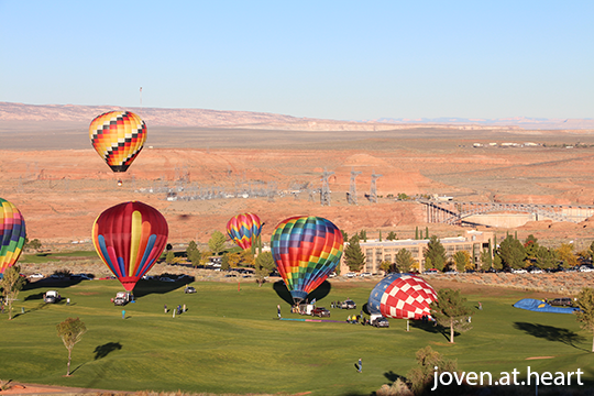 Hot air balloons, Page (Arizona)