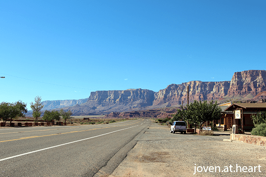 Scenery on the way to the Grand Canyon North Rim from Page, AZ