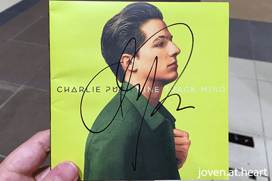 Charlie Puth autograph