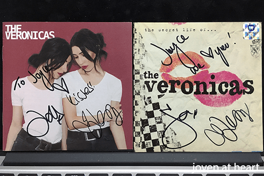 The Veronicas autographed CD sleeves