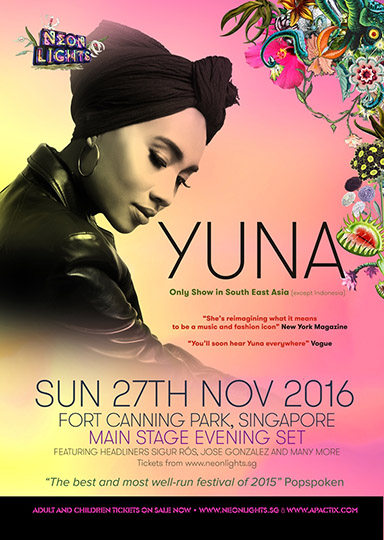Neon Lights 2016 (SG) presents Yuna